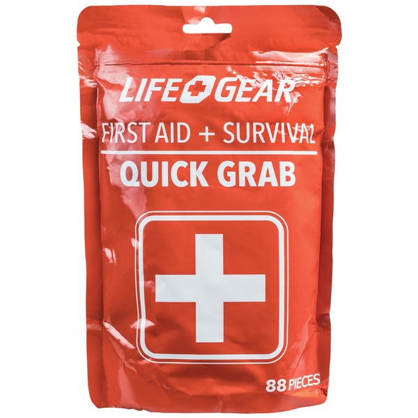 Life+Gear 41-3819 88-Piece Quick Grab First Aid & Survival Kit