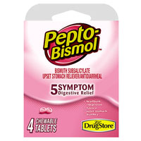 PEPTO BISMOL 5-SYMPTM CHEW 4CT
