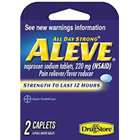 ALEVE PAIN RELIF TRIAL CAP 2CT