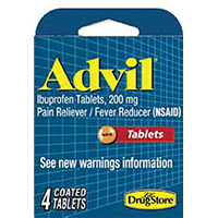 Lil' Drug Advil Trial Pain Relief Tablet, 4 CT, 200 mg