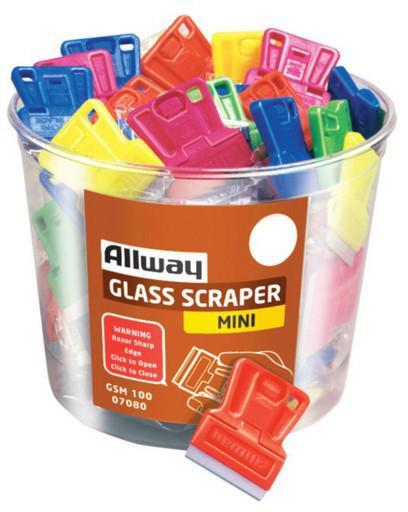 SCRAPER MINI GLASS MIXED NEON