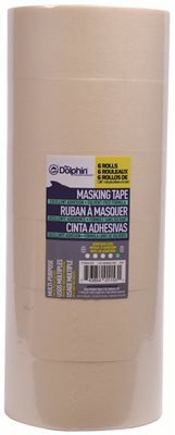 BLUE DOLPHIN� GENERAL PURPOSE MASKING TAPE, 2 IN., 1.88 IN. X 60 YD., 6 ROLLS PER PACK