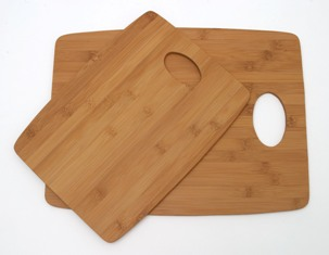 LIPPER 869 BAMBOO CUTTING BOARDS SET OF 2 PERFECT FOR ANY