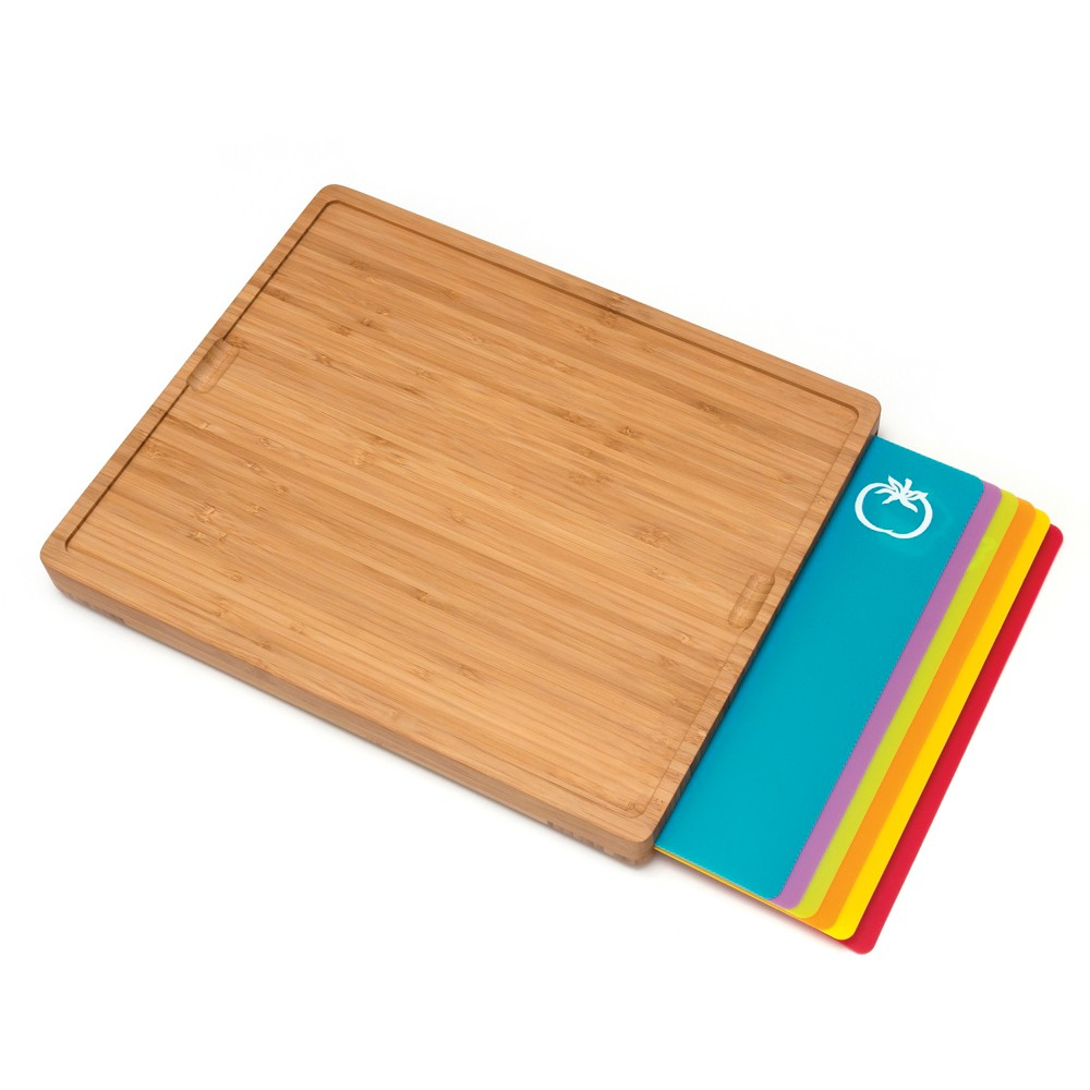 LIPPER 8869 WOOD BAMBOO CUTTING BOARD WITH INLAYS EACH MAT