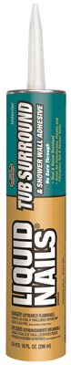 LIQUID NAILS� FOR TUB AND SHOWER WALL ADHESIVE 10.5 OZ.