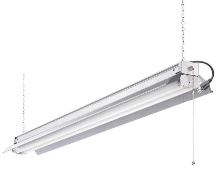 Acuity 172J2C Fluorescent Shoplight Fixture, Medium Bi-Pin, 64 W, 2 Lamp, 4 Foot Lgth