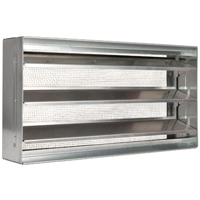 Gaf BVSII Block Foundation Vent, 73 sq-in, Aluminum, Mill