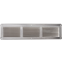 LL Buildsite EAC16X4 Rectangle Undereave Vent, 4 in W x 16 in H, 26 sq-ft, Aluminum