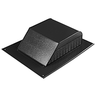 ROOF LOUVER SLANT BACK BLACK