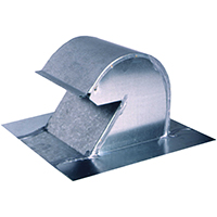 GAF Master Flow GNV4 Roof Mount Goose Neck Ventilator, 4 in, 24 ga Steel, Galvanized