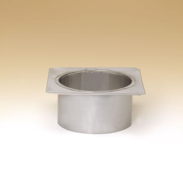 """6"""" Lock-Top Round-Square Adaptor For Round Flue Tiles - DLTRS6"""