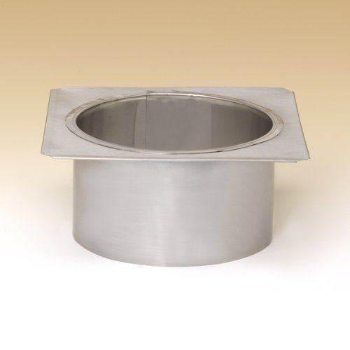 """8"""" Lock-Top Round-Square Adaptor For Round Flue Tiles - DLTRS8"""