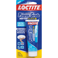 Loctite Power Grab Construction Adhesive, 3 oz, Squeeze Tube, White/Dry Clear, Minimal, Paste