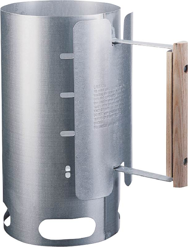 Lodge A5-1 Chimney Charcoal Starter, 6-1/2 in Dia X 12 in H, Steel, Galvanized