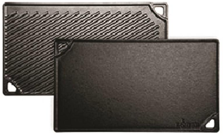 Lodge LDP3 Double Reversible Grill/Griddle, For Use With Stovetop, 16-3/4 in L X 9-1/2 in W X 9/16 in D, Cast Iron