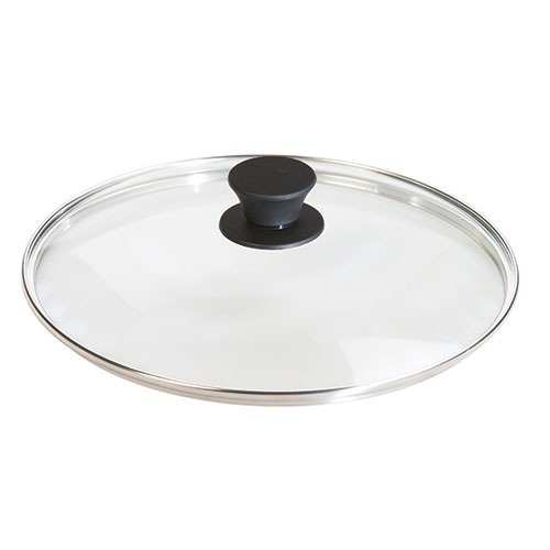 LID GLASS TEMPERED CLR 10.25IN