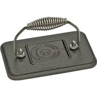 Lodge LGP3 Heavy Duty Rectangular Grill Press, For Use With Skillet or Grill, 6-3/4 in W X 4-1/2 in D, Cast Iron