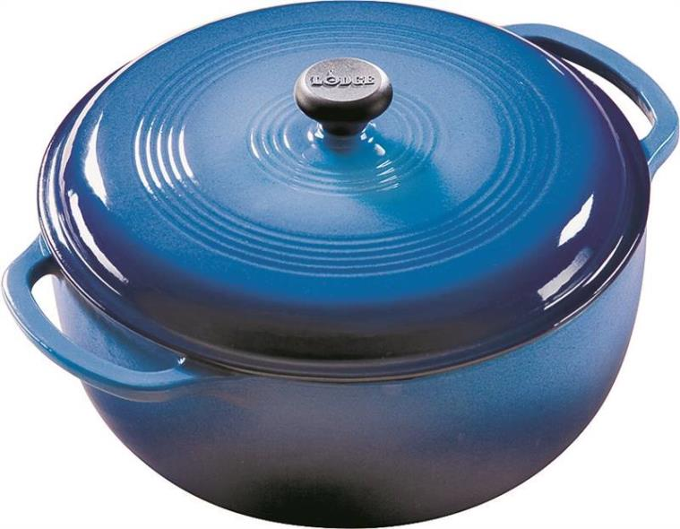 COLOR ENAMEL DUTCH OVEN BL 6 QUART