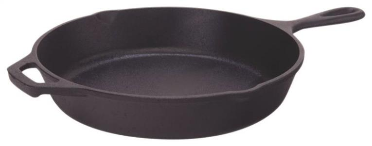 Lodge L8SK3 Deep Seasoned Skillet, 10-1/4 in Dia, Cast Iron, Black