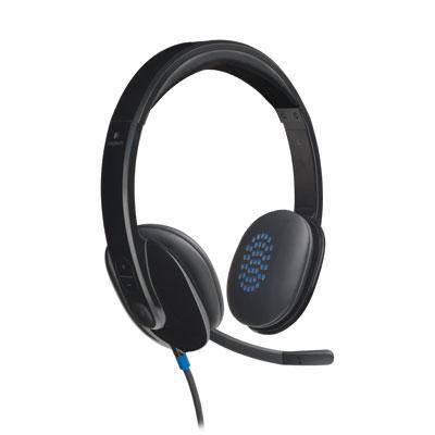 H540 Corded Headset, USB, Black