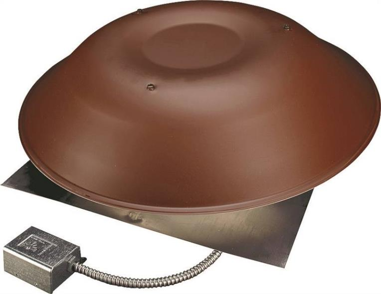 Lomancool 2000 2000BR Standard Roof Mount Power Ventilator, Aluminum, Brown