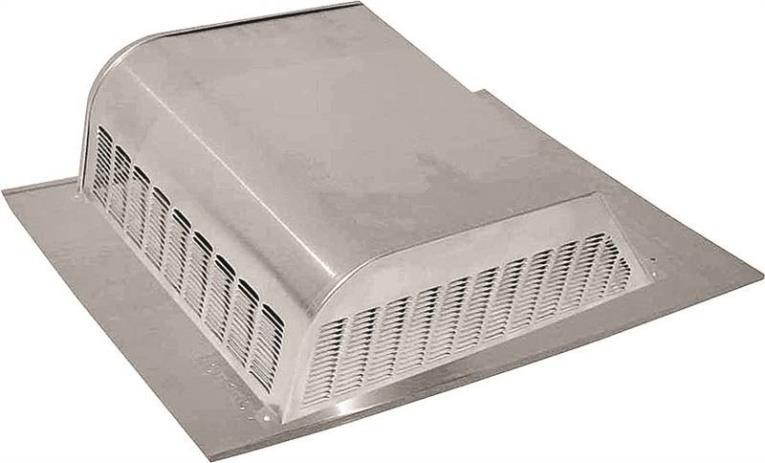 Lomanco 750 Slant Back Static Roof Ventilator, 8 in, Aluminum