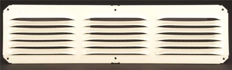 Lomanco C416W Cornice Vent, 25 sq-ft, Aluminum