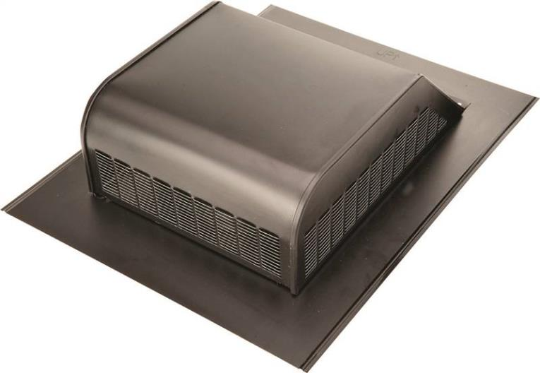 Lomanco 750-GSB Slant Back Static Roof Ventilator, 8 in, Heavy Duty Steel, Galvanized, Black