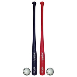 LVS 12 PC 6 BLUE 6 RED BATS WITH BALLS