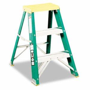 #624 Folding Fiberglass Locking 2-Step Stool, 17w x 22 Spread x 24h
