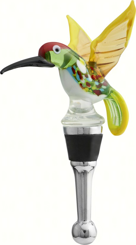 Bottle Stopper - Spring Hummingbird