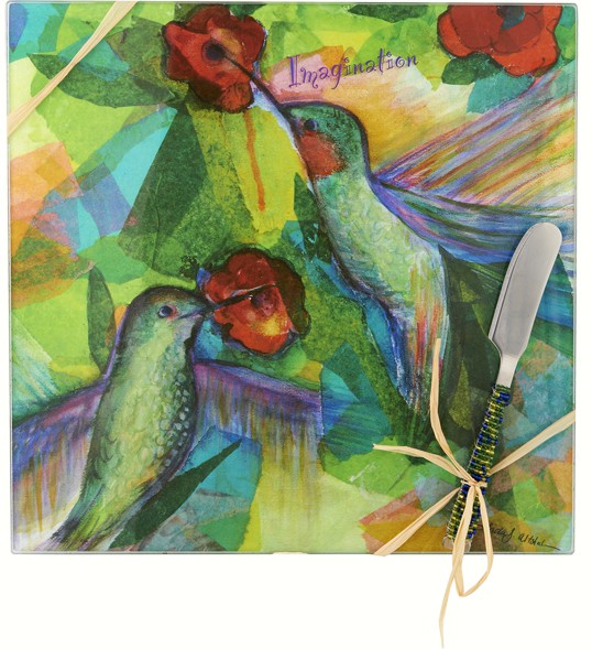Cheese Board - Bird - Imagination - Square 9 Inch