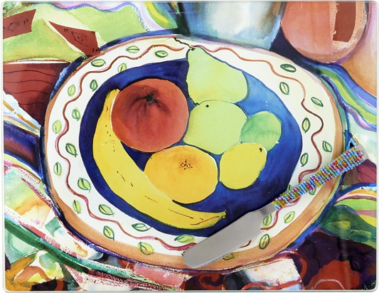 Cheese Board - Fruit Bowl - 10x 8 Inches..