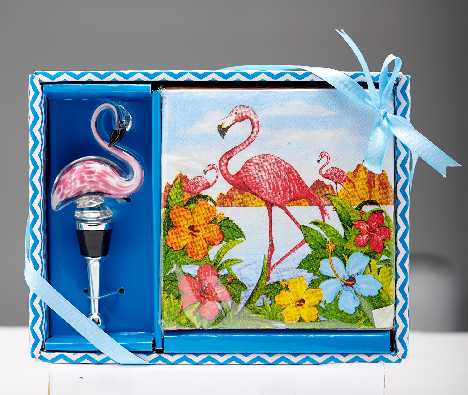 Napkin & Stopper Set -  Flamingo..