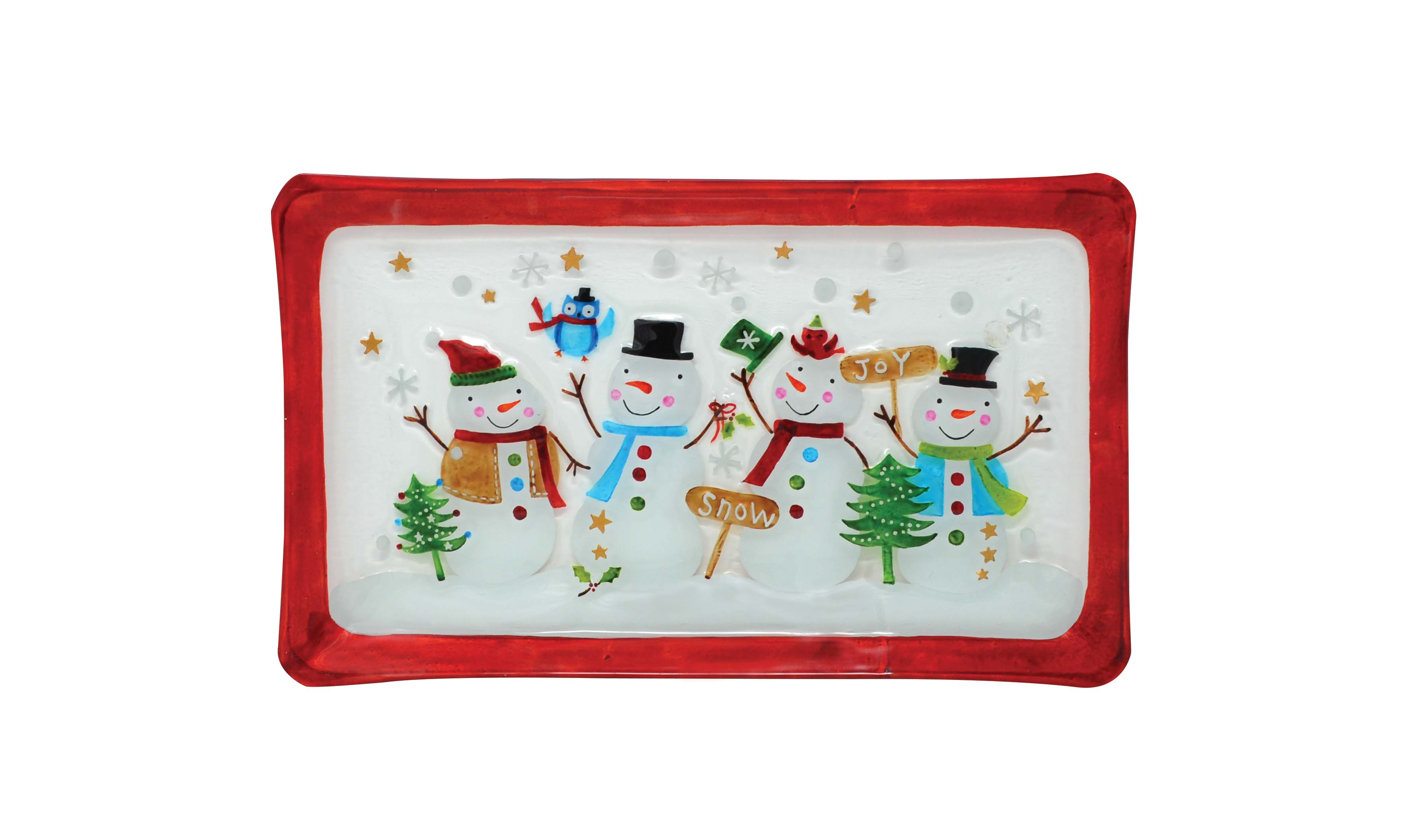 Platter - Snowman Family - 14.5 inch x 9 inch
