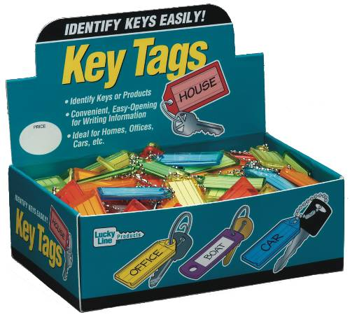 LUCKY LINE COLOR KEY TAG WITH BALL CHANGE DISPLAY