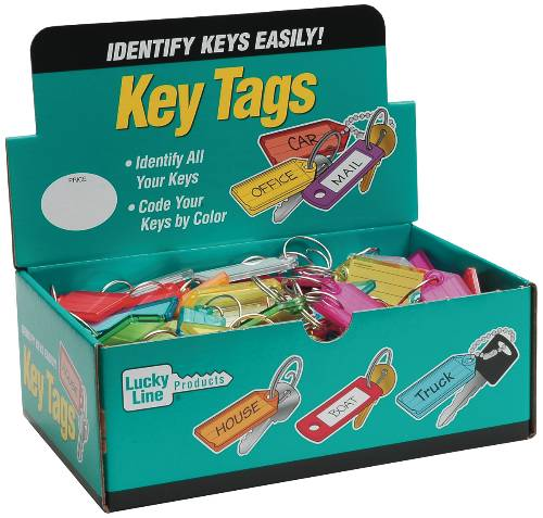 LUCKY LINE COLORED KEYTAG WITH TANG RING