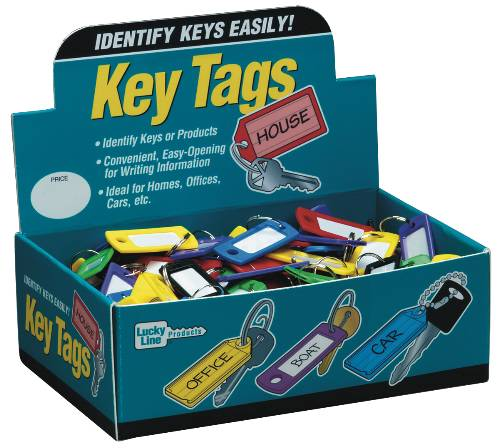 LUCKY LINE COLOR KEY TAG WITH RING DISPLAY
