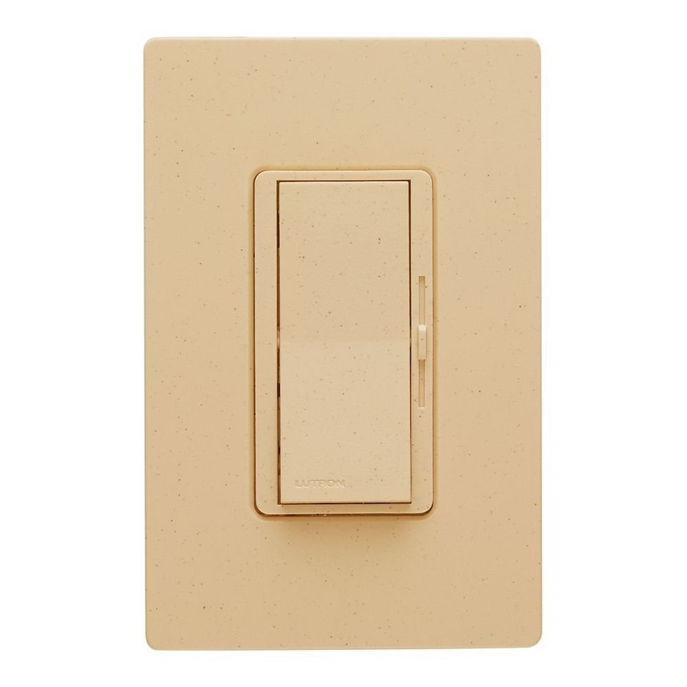 Lutron Diva Transitional Preset Slide Dimmer, 120 VAC, 600 W, 1 P, 3 Way, Ivory