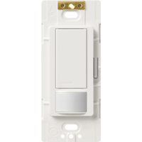 Maestro MS-OPS2H-WH Occupancy Sensor Switch, 250 W, 120 VAC, 30 ft, 180 deg