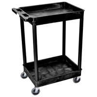 Luxor/ H Wilson RPSTCS11-B Multi-Purpose Utility Tub Cart, Polyethylene Structural Foam, Molded Plastic