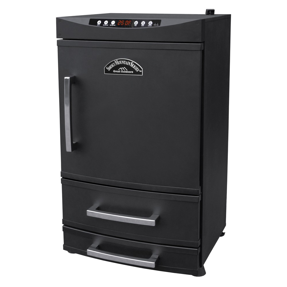 "32"" Smoky  Mountain Two Drawer Electric Smoker Black"