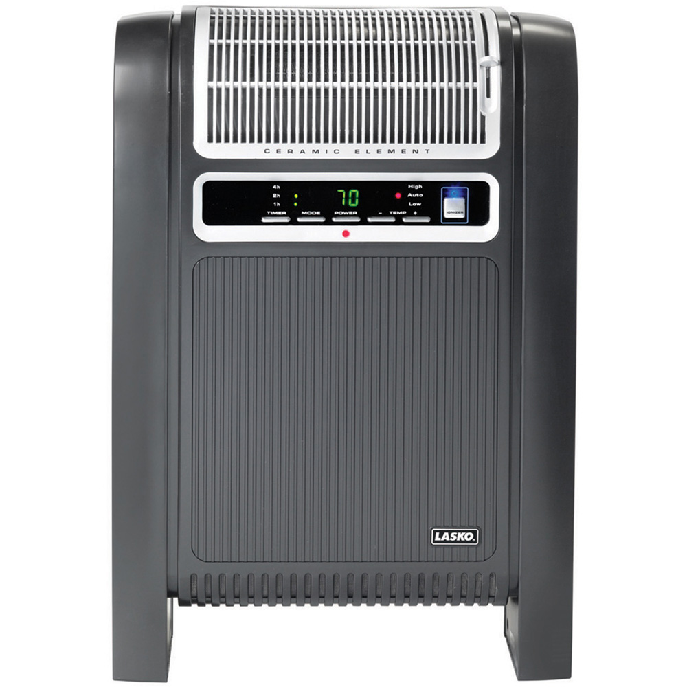 Cyclonic Ceramic Heater with Remote Control, Black