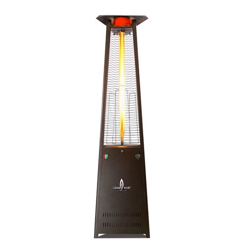 The Lava Heat Italia A-Line 8 foot Commercial Flame Tower Heater, Manual Ignition, Heritage Bronze Finish, Natural Gas