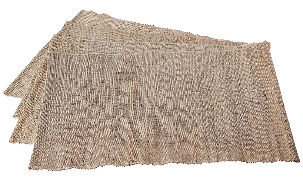 Leaf & Fiber Hand Made, All Natural, Sustainable & Eco-Friendly Banana Fiber Placemats, Set of 4