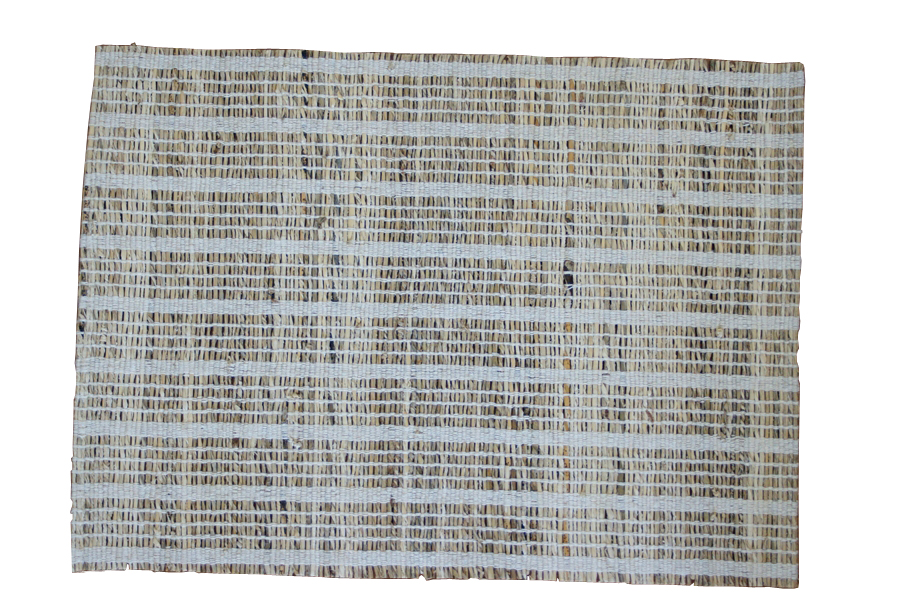 Leaf & Fiber Hand Made, All Natural, Sustainable & Eco-Friendly Banana Fiber Stripped Placemats, Set of 4