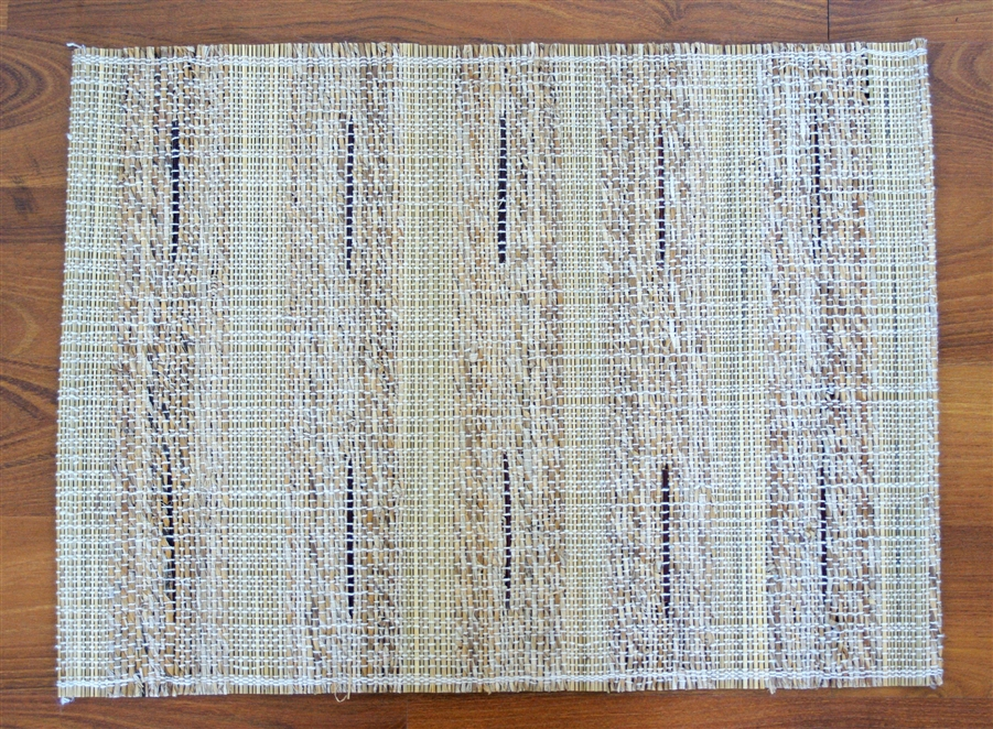 Leaf & Fiber Hand Made, All Natural, Sustainable & Eco-Friendly Korai & Banana Fiber Placemats, Set of 4