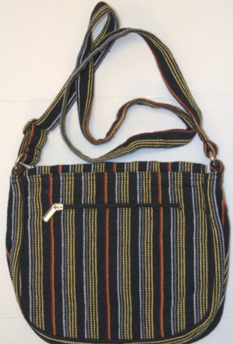 Leaf & Fiber 'Solara' Eco-Friendly Messenger Bag - Yellow Stripes