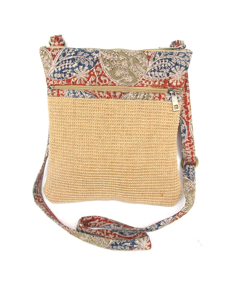 Leaf & Fiber Eco-Friendly IPAD Designer Cross-Body Bag - Natural