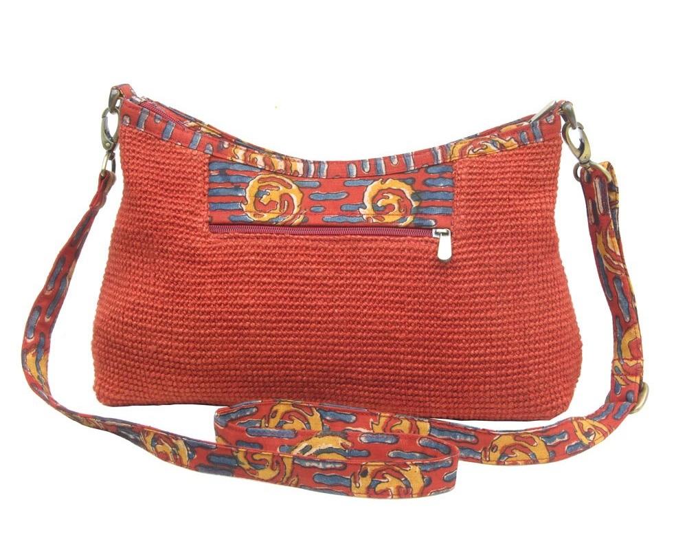 Leaf & Fiber 'Diya' Eco-Friendly Satchel Bag - Brick Red